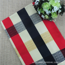 Mediterranean Edinburgh Plaid printed canvas table cloth fabrics cotton cloth printing activity