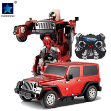 Big Hammer Jeep Transformation Robot RC Car Model Remote Control Vehicle Boys Toys Gift(China)