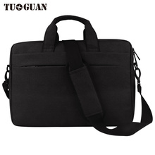TUGUAN Men/Women Handbag Laptop Bag Waterproof Portable Computer Case Briefcases Notebook Bag Air Pro By 15.6 Inches for Male(China)