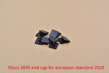 Plastic end cap cover plate black for EU aluminum profile prat 2020 end face nylon rubber cover cap workbench 10pcs(China)