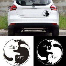 2017 New High Quality Personality Cartoon Cat Car Sticker Vinyl Laptop Graphics Window Decal Decor auto Scratch Cover Stickers