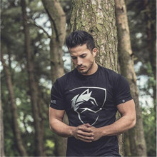 SEA PLANETSP 2018 summer new mens gyms T-shirt fitness fashion men's short cotton clothing brand T-shirt free delivery(China (Mainland))