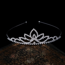 Wedding Party Bridal Tiara Princess Crown Headband Rhinestone Hair Accessories
