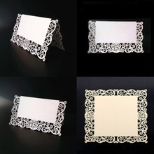 Wedding Table Decorations 12 pcs/ Lot Chic Pearlescent Lace Name Place Cards Wedding Party Table Decor(China)