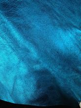 New Metallic Blue Genuine Goat  Leather Skin Fabric for Shoes,Handbag,Free Shipping