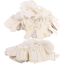 Garment Tags 100pcs/500pcs Labels Tie String Strung Price Tickets Jewelry Watch Clothing Merchandise Display Tags Jewelry Tags