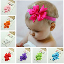 Realer  Girl Bowknot Elastic Headband Photography Headband Hairband White Material is very soft and comfortable vicky