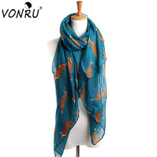 Fashion Women Scarf Fox Animal Print Infinity Ring Wraps 7 Colors Long Length Bufandas Mujer 2015 Female Pashmina Shawls 1WJ3111