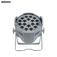 10 pcs/lot LED Par Can 18x12W RGBW 4in1 LED Par Can Par 64 led spotlight dj projector wash stage lighting  Aluminum alloy
