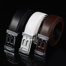 2017 hot leather cowhide luxury brand men's fashion belts, alloy agio, business man B famous G Boss belts 17