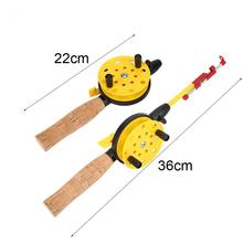 New Winter Ice Fishing Rod Pole+Reel+Line Children Fishing Rod Casting Lightweight Fishing Rod Reel with Hooks Line Tackle(China)