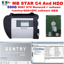 2017 High Quality obd 2 scanner mb star c4 and 2017 09 DTS+vediamo win7 software HDD for mercedes benz sd c4 car diagnostic tool