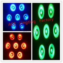 Fast Shipping Black LED Par Can 64 LED Par64 LED Tri 7 RGB 7x 9W factory directly sale(China)