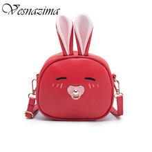 VZ rabbit bag for girls kid's candy bags cross body lovely cartoon shoulder bag black pink black blue white new year wm734yl(China)