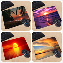 Good Quality Customized Mouse Pad Tropical Paradise Sunset Beautiful Famous Cute Funny Computer Notebook Logo Printing Mouse Pad