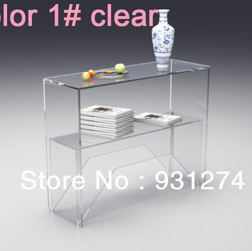 ONE LUX Acrylic Lucite Side Corner Hall Lobby Desk,Plexiglass Pedestal  Console Tables  Various Part 65