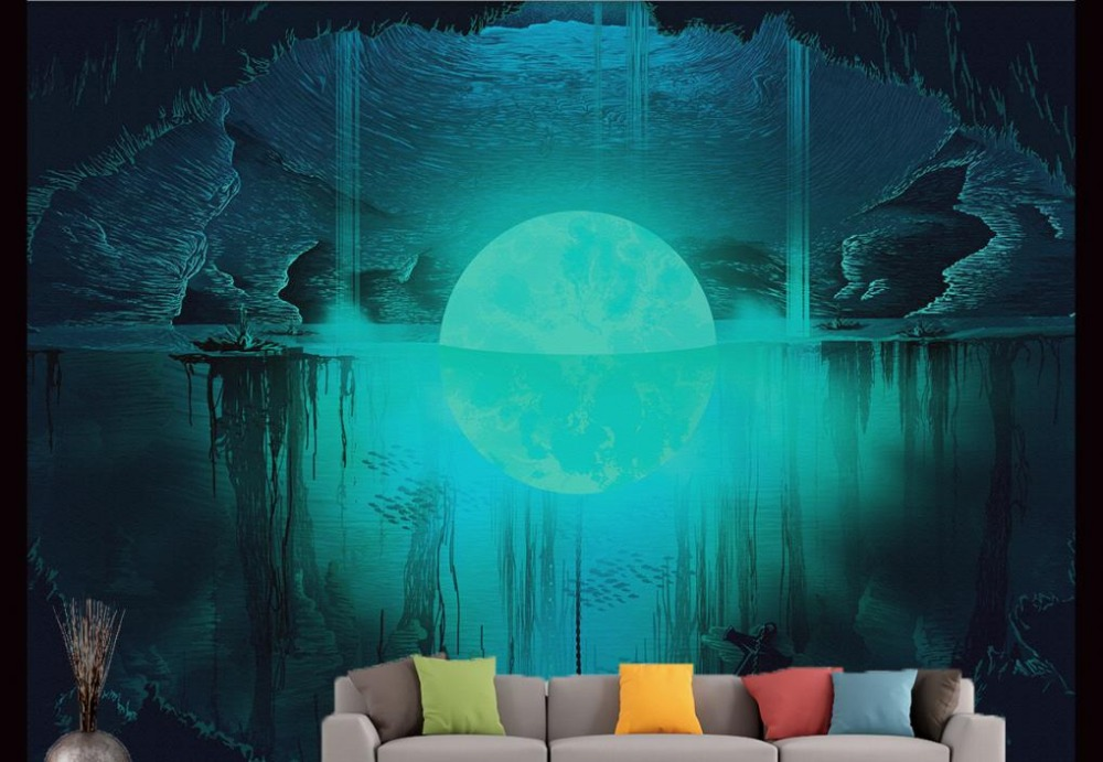 customized 3d stereoscopic wallpaper Fantasy landscape illustration TV backdrop 3d wallpapers for living room<br><br>Aliexpress