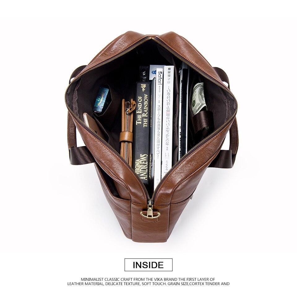 """حقيبة لابتوب من الجلد الطبيعي لرجال الاعمال 15.6"""" 11"""
