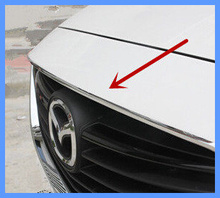Free shipping! High quality stainless steel 1pcs front grille decorative strip/trum strip For Mazda 6 Atenza 2014