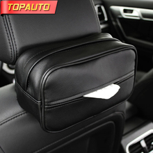 Buy TopAuto Car Tissue Box Leather PU Car Sun Visor Tissue Box Car-styling Seat Back Stowing Tidying Storage Box Car Accessories for $10.76 in AliExpress store