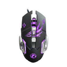 Macro Programming Gaming Mouse 3200DPI Computer Optical LED Game Mice Wired USB Steelseries Mouse Games for Professional Gamer