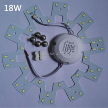HOT!!! 18W 36* 5630/ 5730 Brightness SMD Light Board Led Lamp Panel For Ceiling  PCB  +power supply+Magnetic
