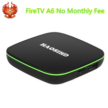 FireTV A6 iptv lifetime free,iptv box android free 2100 Europe France Africa Sport News Africa Movie live tv media play(China)