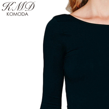 KMD KOMODA Summer Women Sexy T-Shirts Solid Dark Green  Backless Contracted Lady Tops Casual Slim Street Style Female Tops
