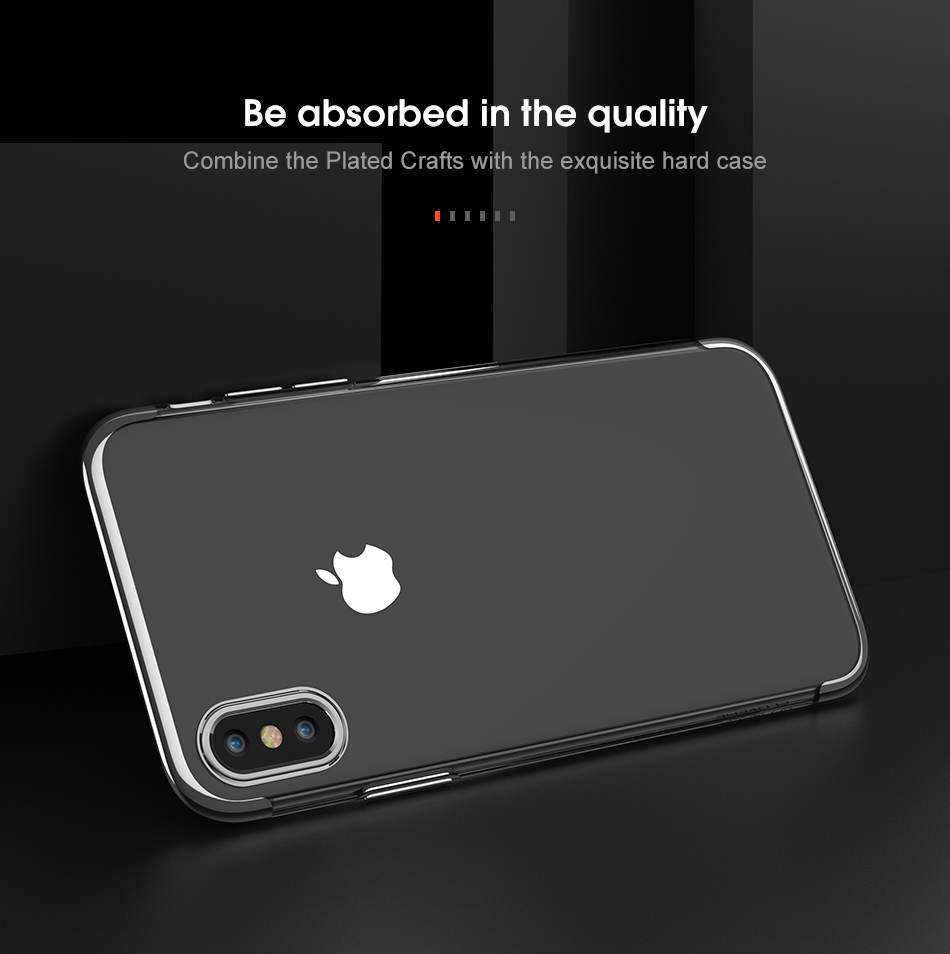 FLOVEME Luxury Plated TPU Case For iPhone X 10 Transparent Ultra Thin Silicone Cover For iPhone 7 6 6S Plus Phone Accessories 5