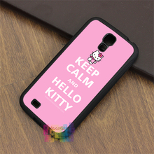 keep calm and hello kitty fashion phone case for samsung galaxy S3 S4 S5 S6 S6 edge S7 S7 edge Note 3 Note 4 Note 5 #MM067