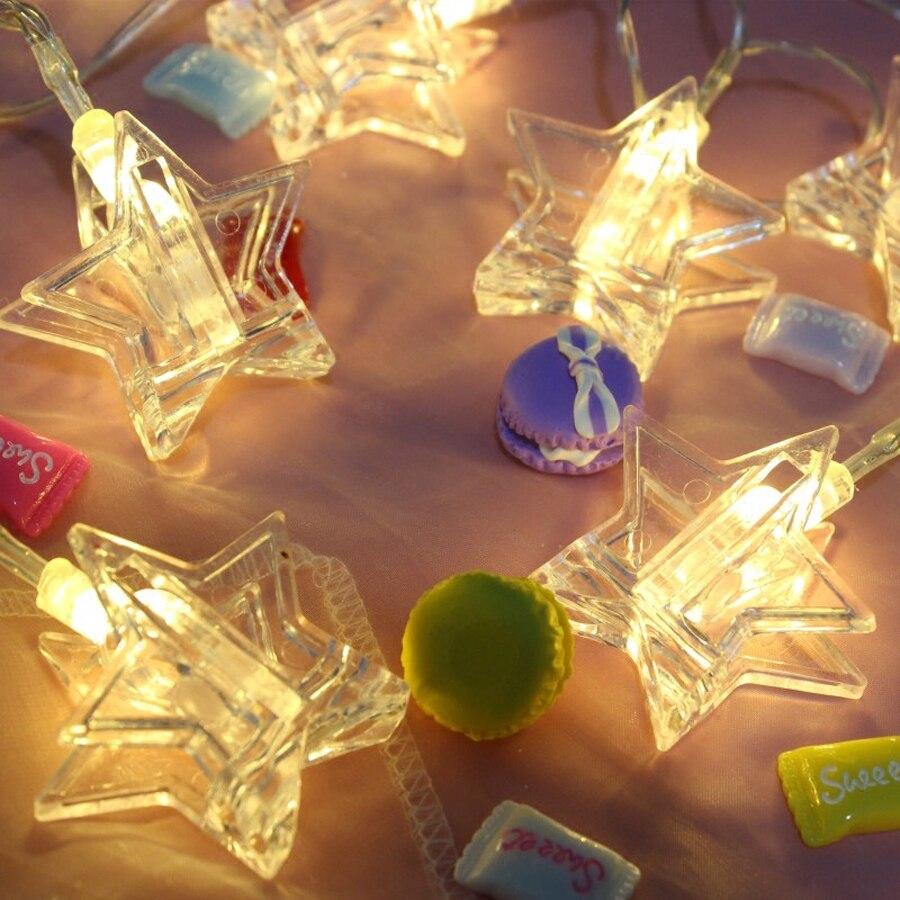 LED Star Garland String Lights 1.5M 3M 6M LED Card Photo Clip Light Wedding Party Christmas DIY Decoration 13