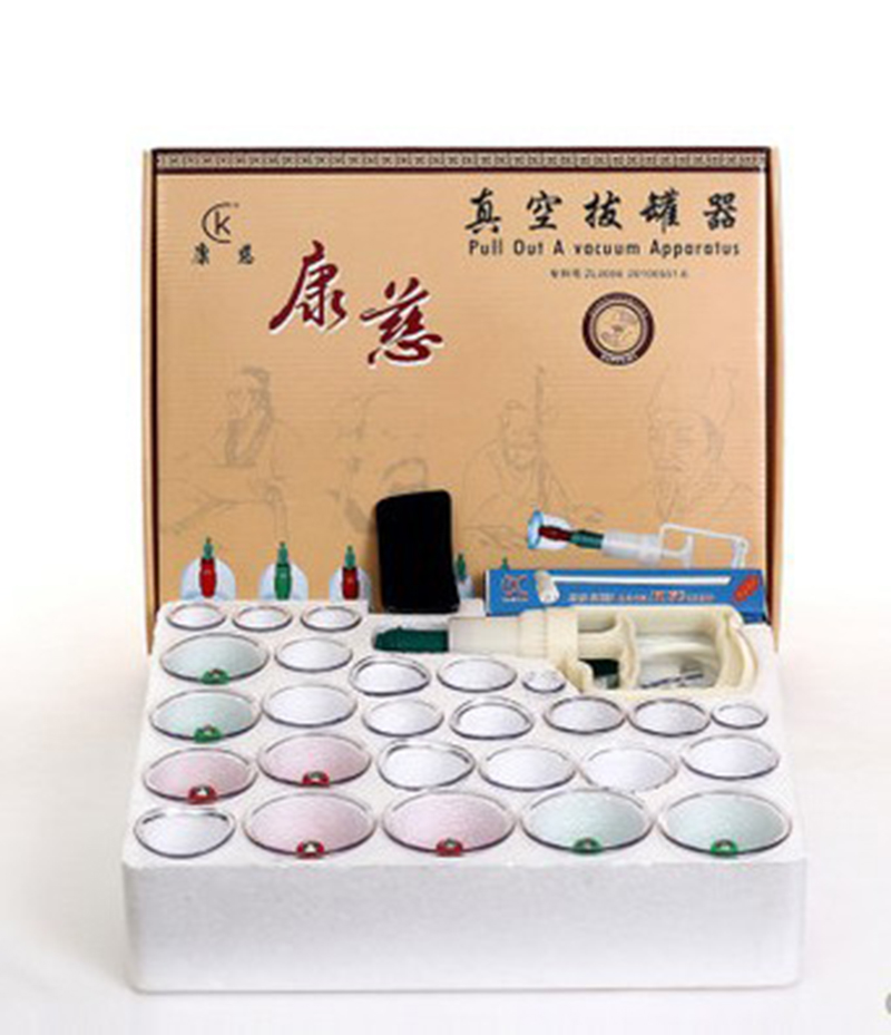 30 Cups Chinese Massage Treatment Relaxation Pull out A Vacuum Apparatus Vacuum Cutem Magentic Cupping Set Device With Tube<br>