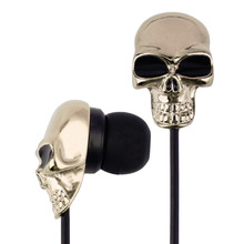 New Cool Skull Stereo Earbud Earphones For MP3/4 Smartphone 3.5mm Wholesale