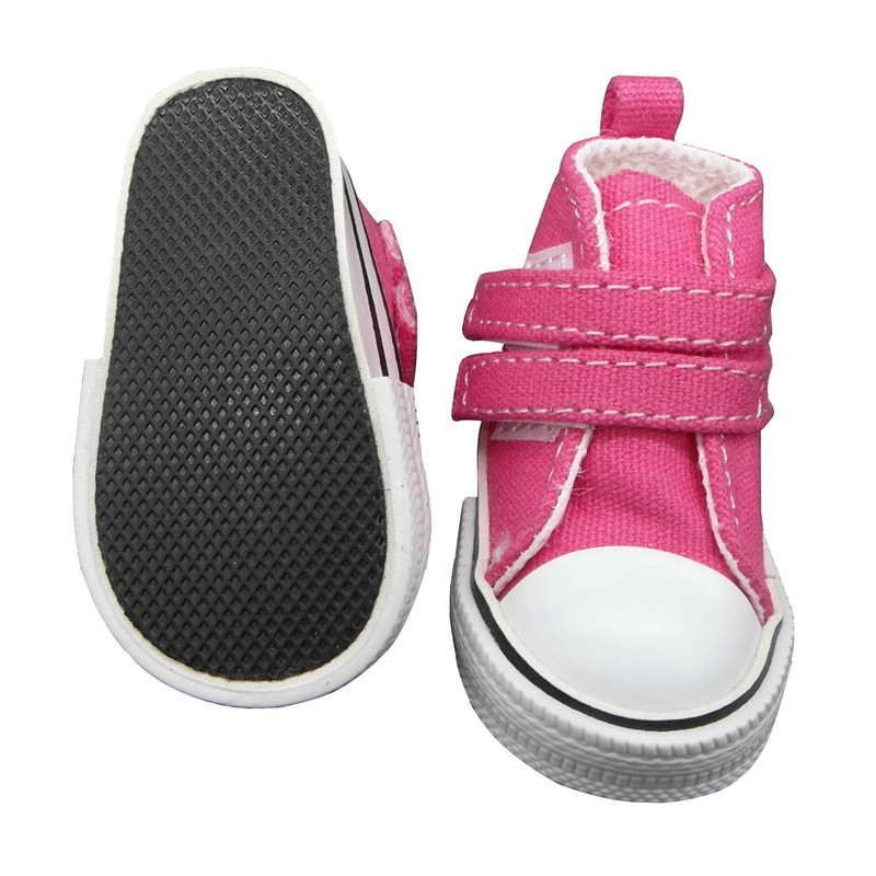 doll shoes bright pink 3