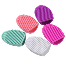 Silicone Makeup Brush Cleaning Washing Tools Cosmetics Makeup Brushes Scrubber Board Washing Cosmetic Brush Cleaner Tool(China)