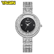 2018 YAQIN watch women luxury brand new fashion women quartz watch gift lady full stainless steel diamond watch Relogio Feminino(China)