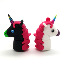 New Style USB 2.0 Cartoon Pen Drive White Unicorn Minions USB Flash Drives Horse 4GB 8GB 16GB 32GB 64GB Memory Stick pendrives