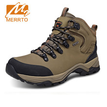 Buy MERRTO Brand Man Skid proof Genuine Leather Waterproof Hiking Camping Waking Shoes Chukka Outdoor Sport Athletic Hiking Shoes for $84.15 in AliExpress store