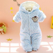 Buy Newborn Baby Winter Clothes Cotton Rompers Thicken Warm Baby Girl Boy Clothing Padded Polar Fleece Fabric Winter Romper CL0726 for $13.10 in AliExpress store