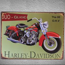 Metal Poster Harley Davidson Motorcycle Plaque Board Home Bar Room Coffee Shop Vintage Gift Garage Tin Painting Wall Decoration