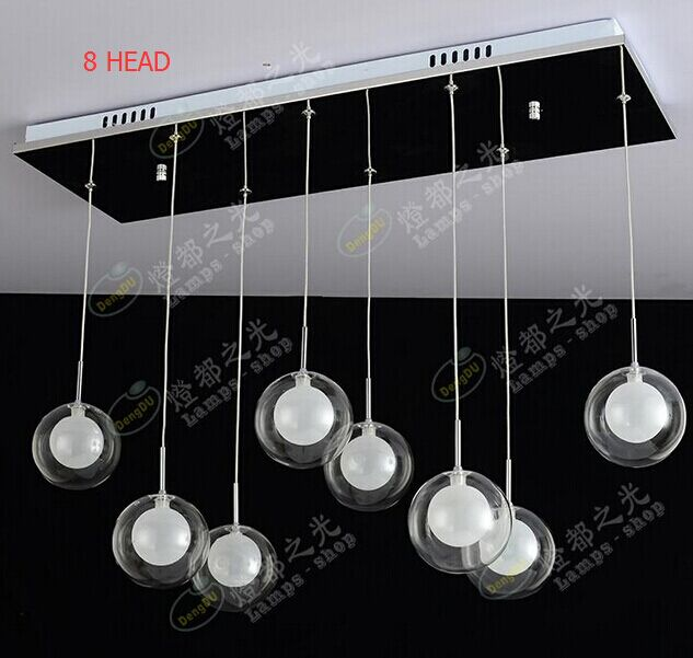 Minimalist restaurant lamp fashion creative glass ball pendant lights bar in the dining room bedroom lamp light LED Lighti<br><br>Aliexpress