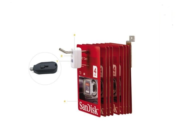 500 pcs/pack abs white color EAS Hook Stop Lock Magnetic Detacher Key Lockpick<br><br>Aliexpress