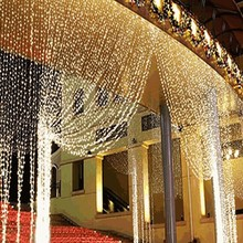 3m x 3m /4m x65cm LED Curtain Icicle Fairy String Lights ice bar Lamps Christmas 220V New Year Garden Xmas Wedding Party Decor(China)
