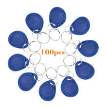 100pcs/lot Proximity Keyfobs Ring TK4100 125KHz RFID Tag Cards Door Control Entry Access EM Key Chain Card RFID Keyfbos
