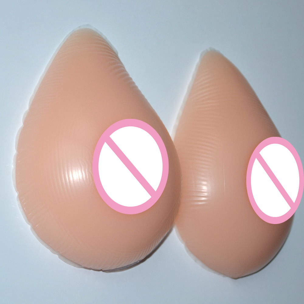 New Hot 1Pair Size XL(1000g) D Cup Silicone Artificial Fake False Breast Forms Chest Prosthesis <br>