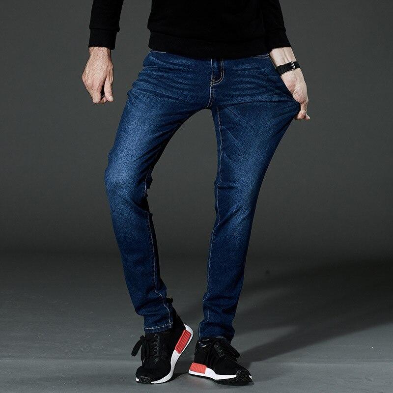Odinokov brand Mens Jeans Blue High Stretch Denim Brand Men Jeans Size 2017 new Loose Plus sizeОдежда и ак�е��уары<br><br><br>Aliexpress