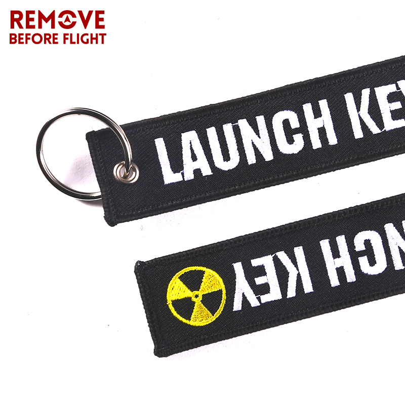 Fashion Nuclear Launch Key Chain Bijoux Keychain for Motorcycles and Cars Gifts Tag Embroidery Key Fobs OEM Keychain Bijoux 4