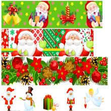 pick color size 16 25 38 50 75 mm width Christmas Day Xmas Printed polyester Grosgrain Ribbon or Satin Ribbon C02