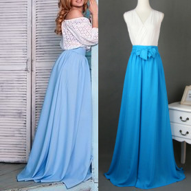 Online Buy Wholesale high waisted chiffon maxi skirt uk from China ...