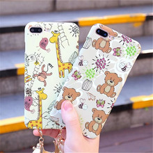 Full Protection Cartoon Animal Glowing In The Dark Case For iPhone 7 6 6S Plus Case Cover Pendant Phone Cases Covers Shell Skin(China)